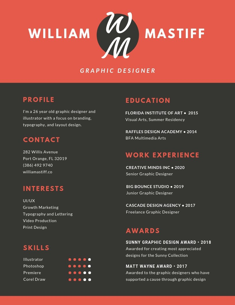 Portfolio Research CV Design Dylan Wert Graphics